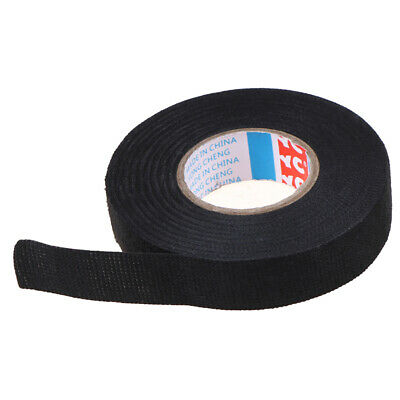 19mmx 15M Adhesive Cloth Fabric Tape Cable Looms Wiring Harness For Car AutoJMDE