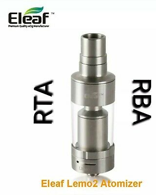 Lemo 2 RBA-RTA tank  3.8 ml (Eleaf) coil Reconstructible (SP) Price PROMO....
