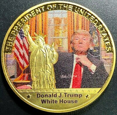 Donald Trump White House Colored Medal - Mint Condition