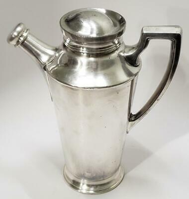 Art Deco Antique Reed & Barton Silver Plate Cocktail Shaker Pitcher Jug