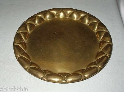SMALL Special ARTS and CRAFTS or ART NOUVEAU Brass TRAY Hand Crafted INCREDIBLE