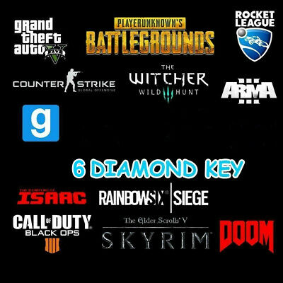 6 DIAMOND Random Steam Keys Worth more than 80$ 🔑🔑+Gift 🔑🔑