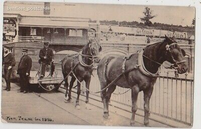Early Postcard, Horse Drawn Pier Tram In 1888, Nice Card,  RP