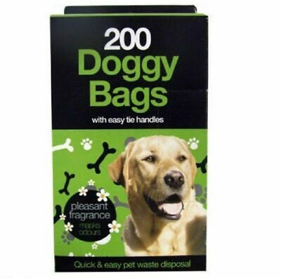 DOGGY BAGS - Scented Pet Pooper Scooper Bag Dog Cat Poo Poop Waste With Handle