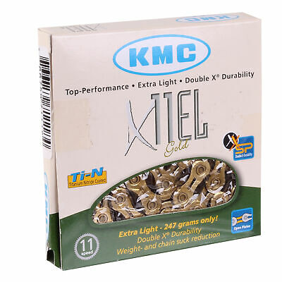 KMC X11EL Extra Light 11sp Chain, Gold