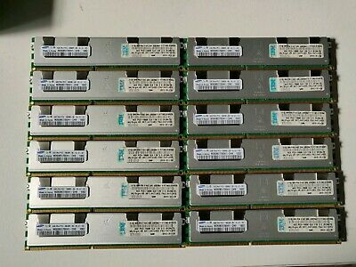 48Gb kit Samsung 12x4GB M393B5170EH1-CH9 10600R PC3 2Rx4 Server RAM