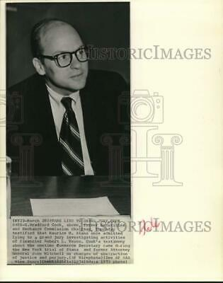 1973 Press Photo Former Securities and Exchange chairman G. Bradford Cook