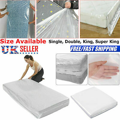 Super King Heavy Duty Mattress Bag Storage Cover Dust Protector Single Double UK