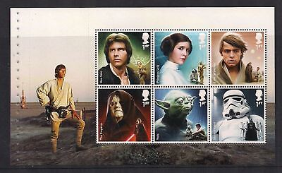 GB 2015 Star Wars~Prestige Stamp Booklet Pane~5~ex DY15~Unmounted Mint