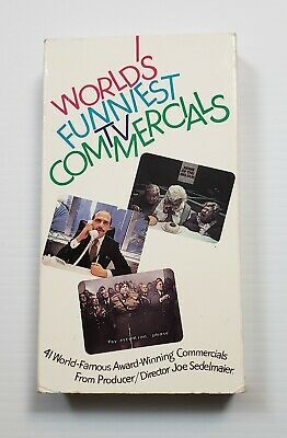 Worlds Funniest TV Commercials VHS 1989 Joe Sedelmaier First Run Video Cult HTF
