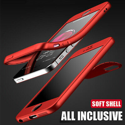 For iPhone XR XS 7 8 6 5s Ultra Thin Shockproof 360 TPU Gel Soft Skin Cover Case