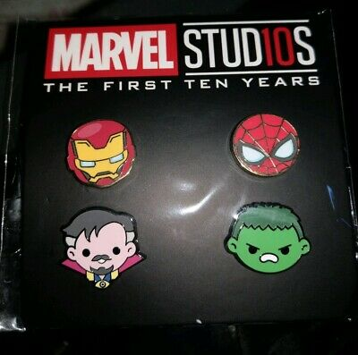 DMR Disney Movie Rewards Marvel Studios 10TH ANNIVERSARY EMOJI PIN SET ISSUE #3