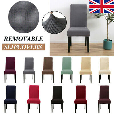 Dining Chair Covers Spandex Washable Stretch Removable Chair Slipcover High Back