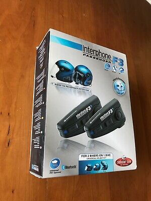 Interphone Sport Interfono per Casco Moto con Bluetooth - Nero