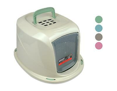 Cat Litter Box Tray Lid Hooded Covered Filter Flip Door Pink Blue Green Grey