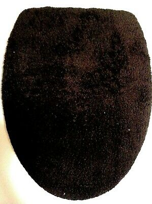 Dark Brown Terry Cloth Elongated Toilet Seat Lid Cover