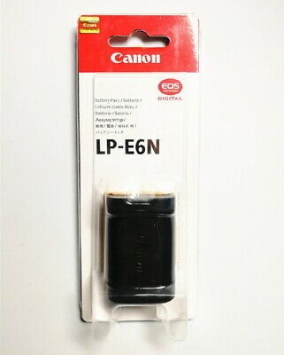 Canon LP-E6N LPE6N Genuine Battery (7.2V, 1865mAh) for EOS Cameras 7D 5D 5DS ...