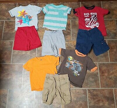 Lot of 9 Boys Size 5 5T Clothes Mixed Outfits Sets Back to School (Lot B)