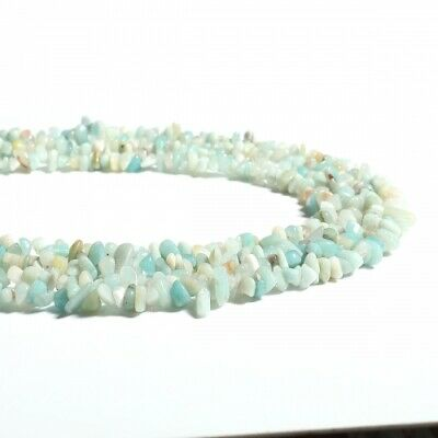 100 perles chips  amazonite gemme naturel