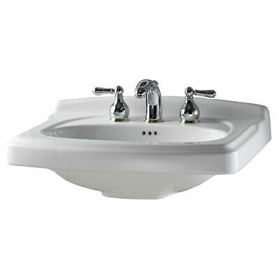 As 0555001020 Townsend 24inx20 Pedestal Lavatory Only White Center Hole