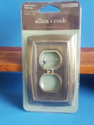 Allen + Roth Cosgrove Single Duplex Wall Plate satin nickel finish New outlet