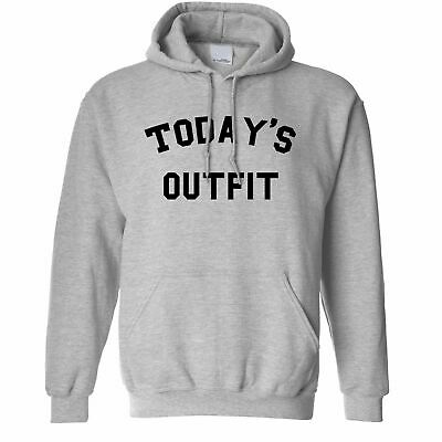 Novelty Slogan Hoodie Hood This Is Today's Outfit Joke Social Media Funny