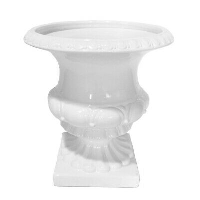 "Sagebrook Home Decorative Ceramic Footed Urn, 15.75"", White - 13571-01"
