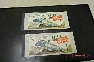 Antique Texas Pacific RailRoad T.&P.RY Unused Ticket Book great cover art