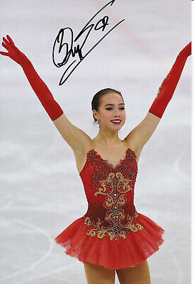 ALINA ZAGITOVA 8x12 Hand Signed Photo Russia Olympics Figure Skating PROOF