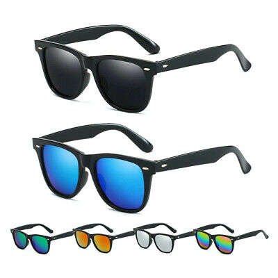 Retro Sunglasses Matte Black Frame Mens Womens Sports Eyewear Driving Glasses