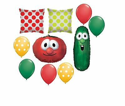 Veggie Tales Larry and Bop Party Supplies Birthday Balloon Decoration Bundle ...