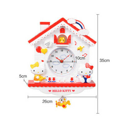 Hello Kitty wall clock decoration girl cute gift Christmas