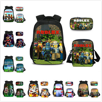 3pcs Roblox Schoolbag Kid Boy Backpack Insulated Lunch Pencil Shoulder Bag Purse