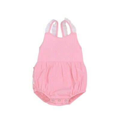 Cute Baby Girls Sleeveless Bodysuit Kids Lace Design Jumpsuit Backless Overalls