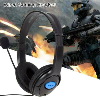 3.5mm Wired Gaming Headset Headphone w Mic Microphone for Sony PS4 PlayStation 4
