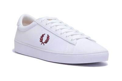 NEW MENS FRED Perry Spencer Leather Trainers UK 9 11