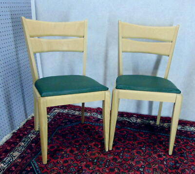 2) M151 A Heywood Wakefield CAT'S EYE Dining Chairs Stripped Ready To Finish DIY