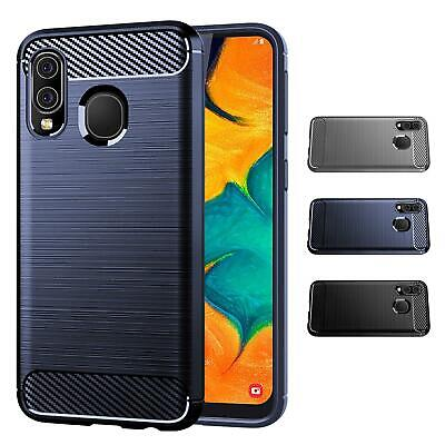 32nd Carbon Series - Slim Armour Shockproof Case Cover Samsung Galaxy A40 (2019)