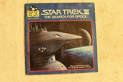 1984 Star Trek III The Search for Spock 24 page read along Book & Record 33 1/3