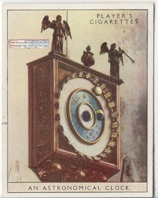 c1320 Wimborne Minster Astronomical Clock Geocentric Model 1920s Ad Trade Card