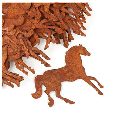 Flat Back Rusty Tin Horse Cutouts | 25 Cutouts