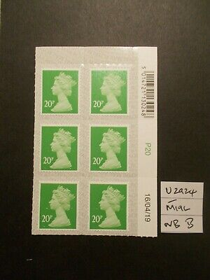 6 x GB 2019 + Security Machin~20p~SG U2924~M19L~S/A~WB~Unmounted Mint~B~UK