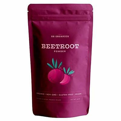 4 oz Organic Pure Whole Beet Root Powder 100% Premium Raw Beetroot Non-GMO Super