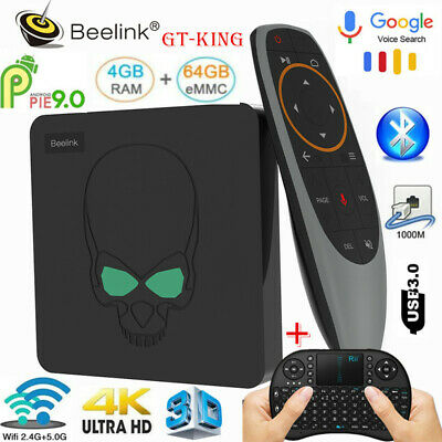 Lot Beelink GT-King 4K Dual WiFi TV Box S922X Android9.0 BT 4+64G Voice Control