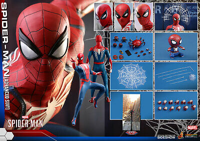 """Hot Toys VGM31 Marvel Spider-Man (Advanced Suit) 1/6 Scale 12"""" Figure In Stock"""