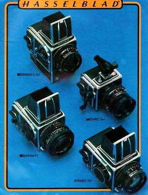Hasselblad 1980 Catalog 500 El/M Swc/M 2000Fc 500 C/M, New Ships Free Within Usa
