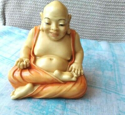 Alabaster Buddha Figurine A.Giannelly Italia Hand Crafted Collectible Home Decor