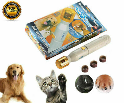 NEW Pedi Paws Nail Trimmer Grinder Grooming Tool Care Clipper For Pet Dogs Cats