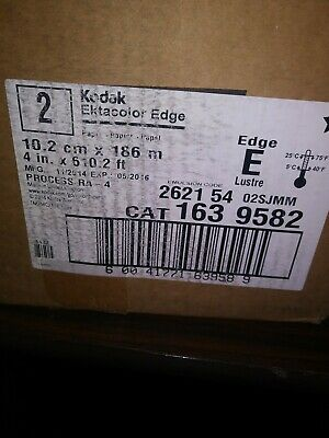 "Kodak Ektacolor ra-4 box of 2 matte photo paper 4x610"" edge E luster"