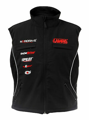 Gilet With Zip, Black - L Lampa